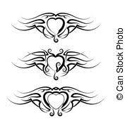 valentine heart tattoo design 3d valentine illustration