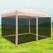 Outdoor Screen House by Amazon Com Quictent Ez Tan Pop Up Canopy Gazebo Mesh Side Wall