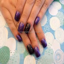 15 purple black nail designs