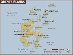 map of the islands map of orkney islands