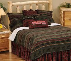 Cabin Bed Sets Bedding Fascinating Great Moose Lodge Bedding Sets Cabin Place