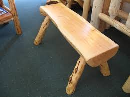 Rustic Log Benches - juniper 1 2 log benches rustic furniture pinterest bench