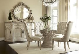 luxury large contemporary centerpieces dining room that has cream