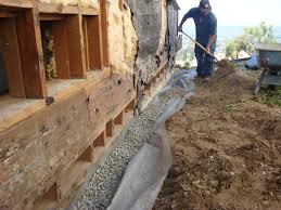 home design how to french drain installation diy with gravels for