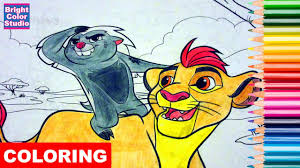 coloring pages kion and bunga explore the lion guard coloring book