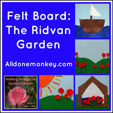the ridvan garden felt board all done monkey