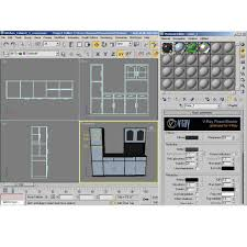 interior 3d kitchen cabinet cgtrader