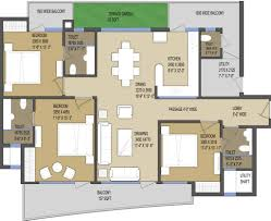 solitairian city floor plans 3bhk 1850 sqft