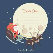 christmas letter to santa claus vector free download