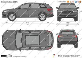 skoda kodiaq 2017 the blueprints com vector drawing skoda kodiaq