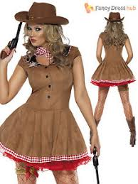 Cowgirl Halloween Costumes Adults Size 8 18 Ladies Cowgirl Costume Wild West Western