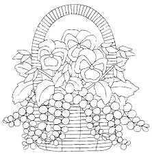 coloriage fleurs et plantes pensees à colorier allofamille