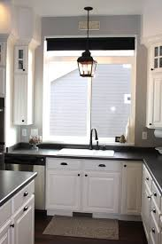 Black Kitchen Light Fixtures Adorable Above Kitchen Sink Lighting Ideas Using Candle Shaped Led