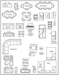 furniture templates for floor plans free 1 4 furniture templates a pinterest symbols scale and
