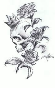 skull u0027n u0027roses tattoo design by paramajamas on deviantart