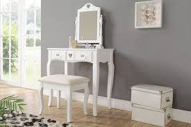 Vintage Style Vanity Table 3pc Antique Style Dressing Table Set