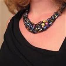 trellis ladder yarn necklace instructions crocheted trellis yarn bib necklace pattern knitting u0026 crochet