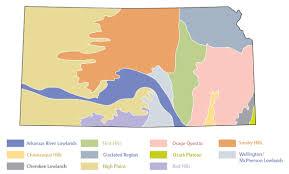 Map Of Counties In Kansas Ozark Plateau Kansapedia Kansas Historical Society