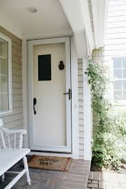 White Front Door Sherwin Williams Iron Ore Front Door Update Before And After