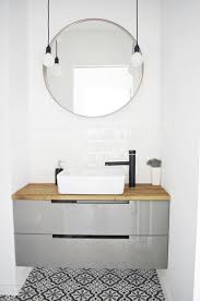 ikea bathroom mirror light 21 interiors featuring round mirror interiorforlife com ikea round
