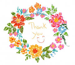 thank you flowers flower frame thank you card vectors stock in format for free