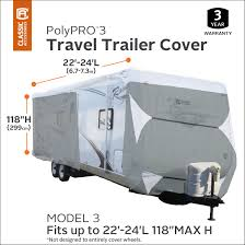 classic accessories polypro 3 deluxe travel trailer rv cover or