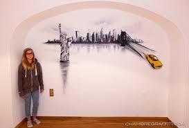 chambre theme new york chambre déco graffiti prénom en graff et trompe l u0027oeil au spray