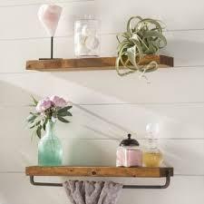 Shelves For Bathroom Walls Bathroom Wall Shelves You Ll Wayfair