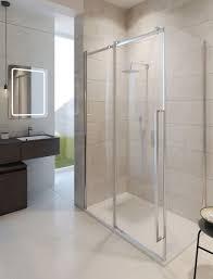 pier sliding shower door in frameless luxury bathrooms uk