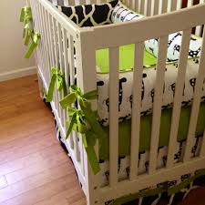 Green And White Crib Bedding Black And White Crib Bedding Set Quality Bed