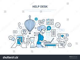 Help Desk System Help Desk Concept Technical Support System Stock Vector 705021583