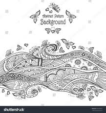 abstract pattern background zendoodle zentangle style stock vector