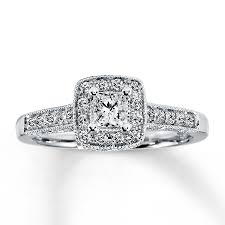 princess cut engagement rings white gold engagement ring 1 2 ct tw princess cut 14k white gold