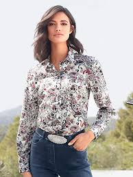 paisley blouse hahn blouse with colourful paisley and floral motifs ecru