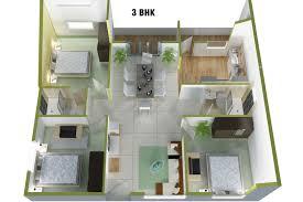 3 bhk home design layout