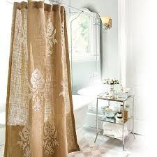 Burlap Shower Curtains Burlap Design Burlap Crewel Damask Shower Curtain Ballard