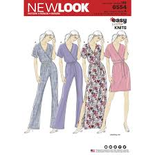 design pattern of dress 6554 misses knit jumpsuit and dresses textillia online sewing