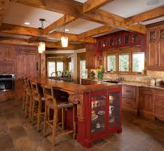 Rustic Painted Kitchen Cabinets by Classic Kitchen Ideas With Dark Wood Brown Cushion 4 Seating