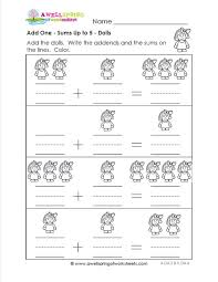 addition addition objects worksheets kindergarten free math