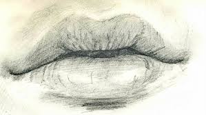9 best images of closed lips sketch lips sketch drawings