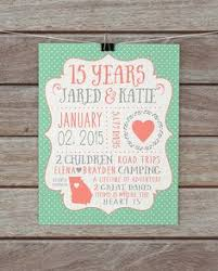 15th wedding anniversary ideas wedding anniversary gifts paper canvas 15 year anniversary