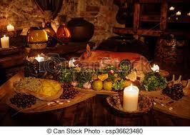 cuisine au moyen age ancien moyen âge nourriture royal table typique images
