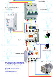 wiring diagram for 3 phase motor complete wiring diagram