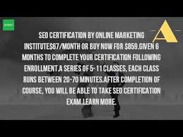online seo class how do i get seo certified
