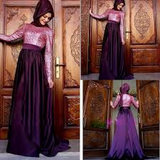 aliexpress com buy fashion muslim purple long bridesmaid dresses