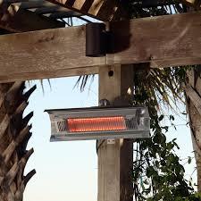 Fire Sense Patio Heater Review Fire Sense 1500 Watt Electric Mounted Patio Heater U0026 Reviews Wayfair