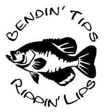 ducks trucks and ten point bucks that s what little bendin tips rippin lips crappie ice fishing window wall decal car truck boat trailer