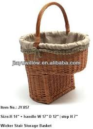 wicker stair storage basket for magazines and newspaper buy