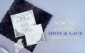 vintage lace wedding invitations vintage iron lace wedding invitation with diy lace pocket