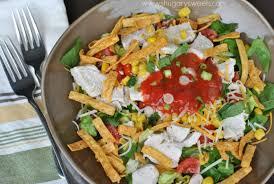 layered chicken taco salad shugary sweets